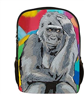 Gorilla Backpack, Gorilla Book Bag - From My Original Painting, The Thinker