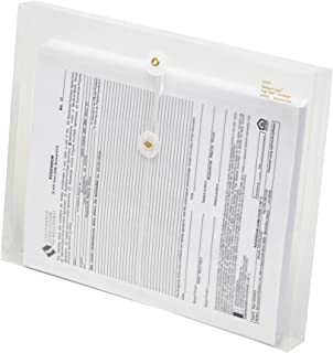 Lion String-A-Long Clear Poly Envelopes with Gusset, Letter, Side Load, 6 EA/Pack, 1 Pack (32030-CR)