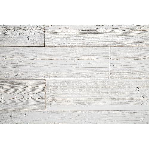 WoodyWalls Peel And Stick Wood Panels (19.5 Sq. Ft. Per Box) White