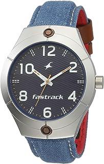 Black Dial Blue Denim Strap Watch