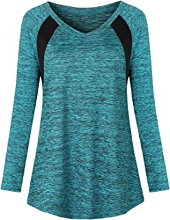 Zugeet Women's Short Sleeve V Neck Active Wear Tops Wicking Athletic Yoga Shirt