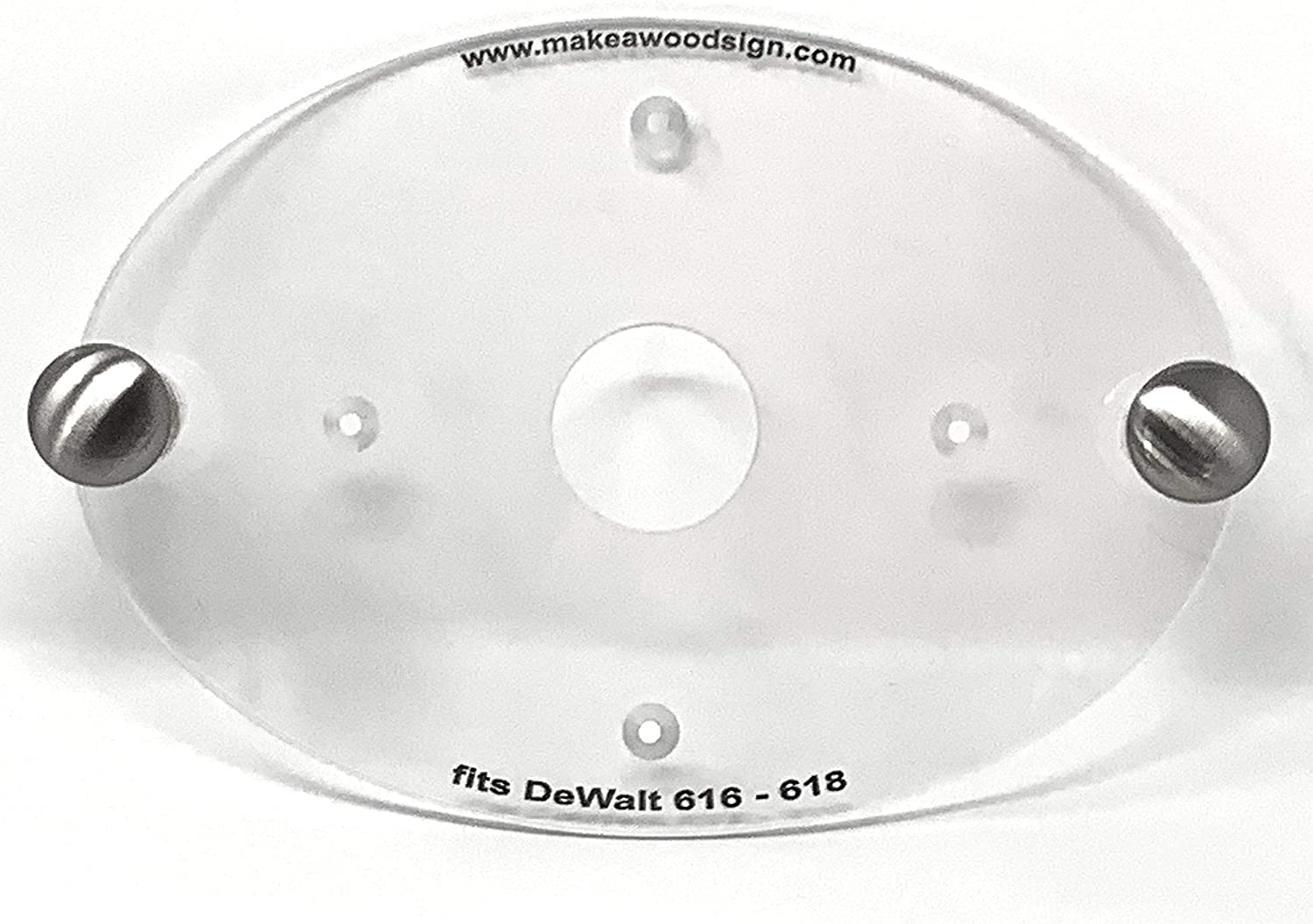 Dave's - Palm Router Acrylic with 期間限定送料無料 D Plate 新品 送料無料 Compatible Base