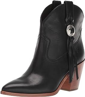 Frye حذاء برقبة قصيرة أنيق للسيدات Faye Concho ، أسود، 7 Medium US