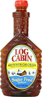 Log Cabin Syrup, Sugar Free, 24 Ounce (Pack of 4)
