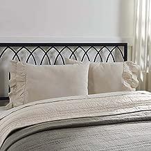 Piper Classics Ruffled Chambray Natural Beige Standard Pillow Case Shams, Set of 2, 21x34, Farmhouse Decor Style