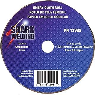 Shark 12988 1-Inch by 50-Yards Aluminum Oxide Emery Cloth Roll, 100-Grit
