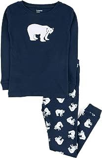 New Boys/' Fleece Pajamas 2-Piece Shirt Top /& Pants PJ Set Polar Bear M Blue 8