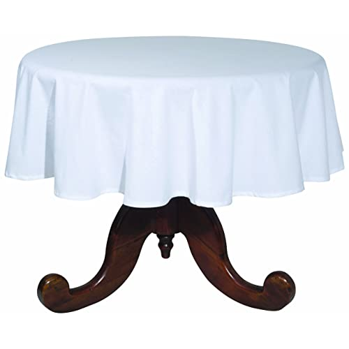 Brilliant White Cotton Round Tablecloth Amazon Com Beutiful Home Inspiration Ommitmahrainfo