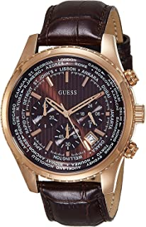 جس ساعة رسمية للرجال، جلد طبيعي، انالوج بعقارب - W0500G3