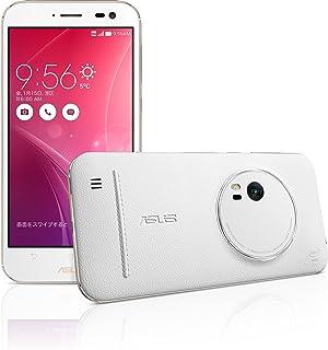 ASUS ZenFone Zoom (SIMフリー/Android5.0 /5.5inch /microSIM /LTE / メモリー4G) (128G, ホワイト(背面本革)) ZX5