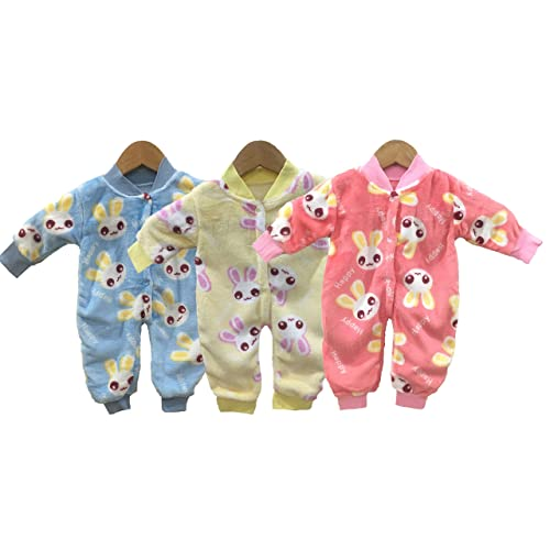 9853641a2 Miss U Baby Boys Baby Girls Infants Kids Shearing Velvet Full Sleeves  Winter Wear Romper Set