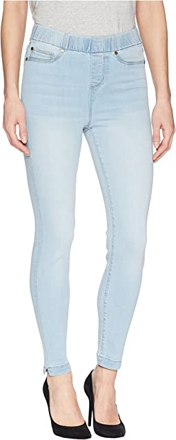Chloe Notched Crop in Premium Super Stretch Denim in Mansfield Super Light