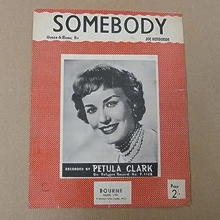 song sheet SOMEBODY Petula Clark 1954