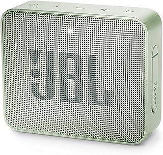 JBL GO 2 Bluetooth-Lautsprecher, tragbar, wasserdicht, IPX7, mit Mikrofon, bis zu 5 Stunden Laufzeit, Mint