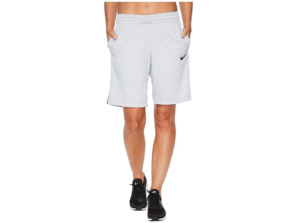 Nike Dry Essential 10 Basketball Short (Wolf Grey/Black/Wolf Grey/Black) Women