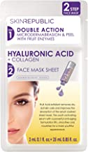 Skin Republic 2 Step Hyaluronic Acid + Collagen Face Mask, 28ml