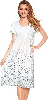 Womens Nightgown Sleepwear Cotton Pajamas - Womans Cap Sleeve Sleep Dress Nightshirt