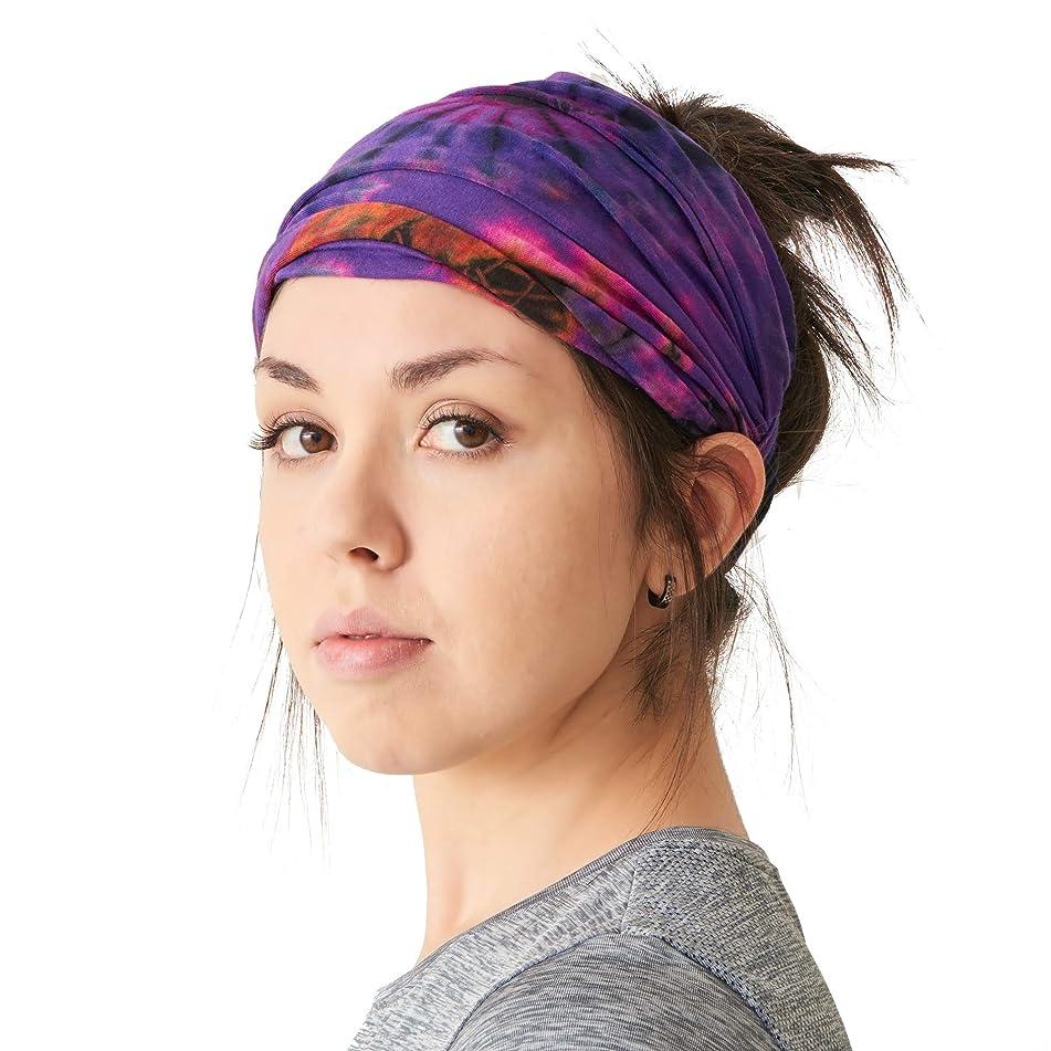 CHARM Casualbox | Tie-Dye Headband Bandana Boho Hippie Retro Flower Psychedelic 60's