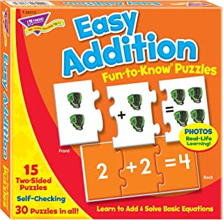 Easy Addition Fun-to-Know® Puzzles - Matching games to build math skills