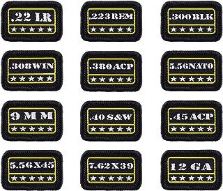 Raiseek 9mm .40 .45 .380 12GA 7.62 .223 5.56 .30 .22 Military Tactical Morale Patch Hook and Loop Fastener Backing Decorat...