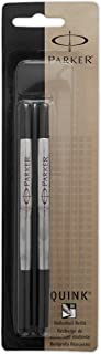 PARKER QUINK Rollerball Pen Ink Refills, Medium, Black, 2 Count