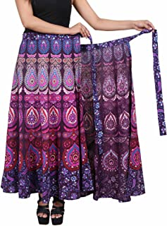 "Jaipur Skirt Women's Traditional and Stylish Cotton Printed Wraparound Skirt (""Assorted Colors and Assorted Designs"" Free Size)"