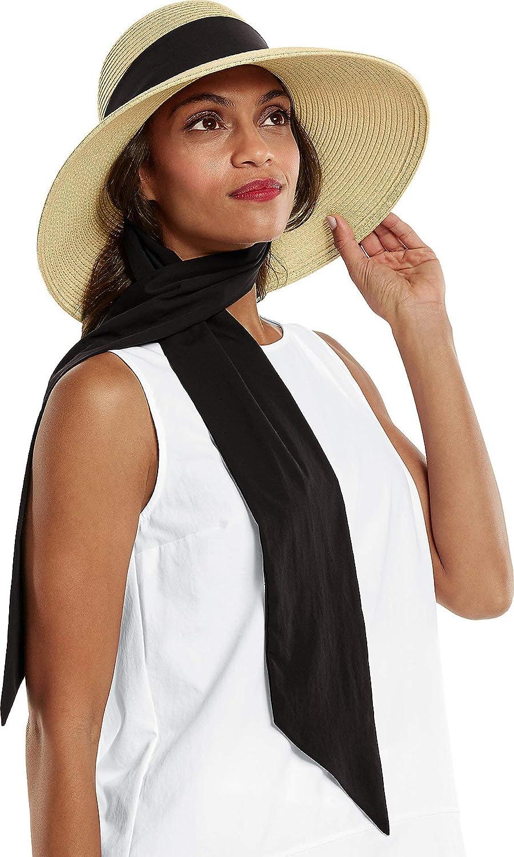 Coolibar UPF 50+ Women's Stella Scarf Detail Hat - Sun Protective