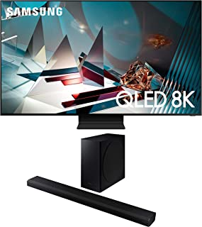 Samsung QN75Q800TA 8K Ultra High Definition Smart HDR QLED TV with a Samsung HW-Q800T 3.1.2 Ch Dolby Atmos Soundbar and Wireless Subwoofer (2020)