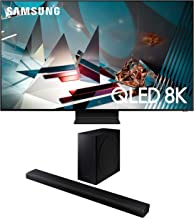 Samsung QN75Q800TA 8K Ultra High Definition Smart HDR QLED TV with a Samsung HW-Q800T 3.1.2 Ch Dolby Atmos Soundbar and Wi...