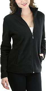 Women's Zip Up High Collar Polar Fleece Long Sleeve Jacket