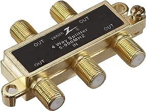 AmerTac - Zenith VS1001SP4W Fourway Coax Splitter 900Mhz