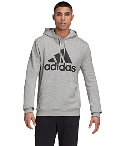 adidas Must Have Badge of Sport French Terry Pullover (Medium Grey Heather) Men