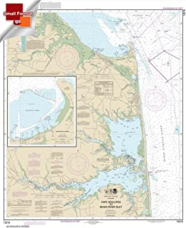 Paradise Cay Publications NOAA Chart 12216: Cape Henlopen to Indian River Inlet; Breakwater Harbor 21.00 x 17.21 (SMALL FORMAT WATERPROOF)