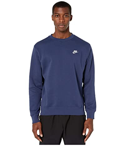 Nike NSW Club Crew (Midnight Navy/White) Men