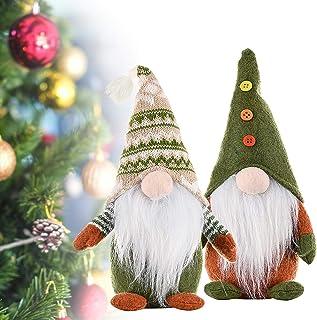 KOESON Christmas Gnome, Handmade Scandinavian Swedish Tomte Plush Ornament, Nordic Santa Elf Doll Dwarf for Xmas Decoratio...