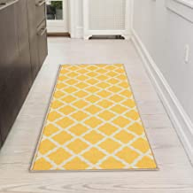 "Silk Road Concepts Bath Rug, 20"" x 59"", Yellow"