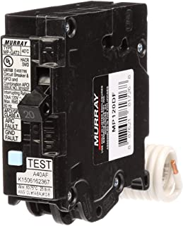Murray MP120DF 20-Amp AFCI/GFCI Dual Function Circuit Breaker, Plug on Load Center Style
