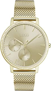Hugo Boss Womens Gold Quartz Watch, Analog Display and Stainless Steel Strap 1502520