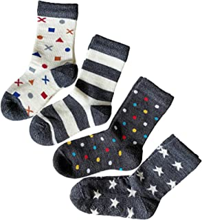 4x Multipack Boys /& Girls Cushioned VITSOCKS Kids Merino Wool Warm Cozy Fun Socks