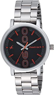 Fastrack Bold Black Dial Analog Watch for Men