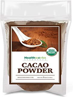 Healthworks Cacao Powder (80 Ounces / 5 Pounds) | Cocoa Chocolate Substitute | Certified Organic | Sugar-Free, Keto, Vegan...