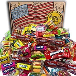 American Candy Party Gift Box.120 Pieces! Classic American Sweets - Airheads, Laffy-Taffy, Twizzlers, Nerds, Jolly Rancher...