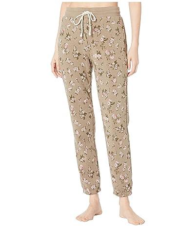 Alternative Classic Printed Eco-Fleece Jogger Pants (Antique Wild Roses) Women