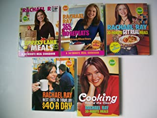 Rachael Ray (Set of 5) Express Lane Meals; 365 No Repeat; 30-Min Get Real Meals; Cooking Round Clock