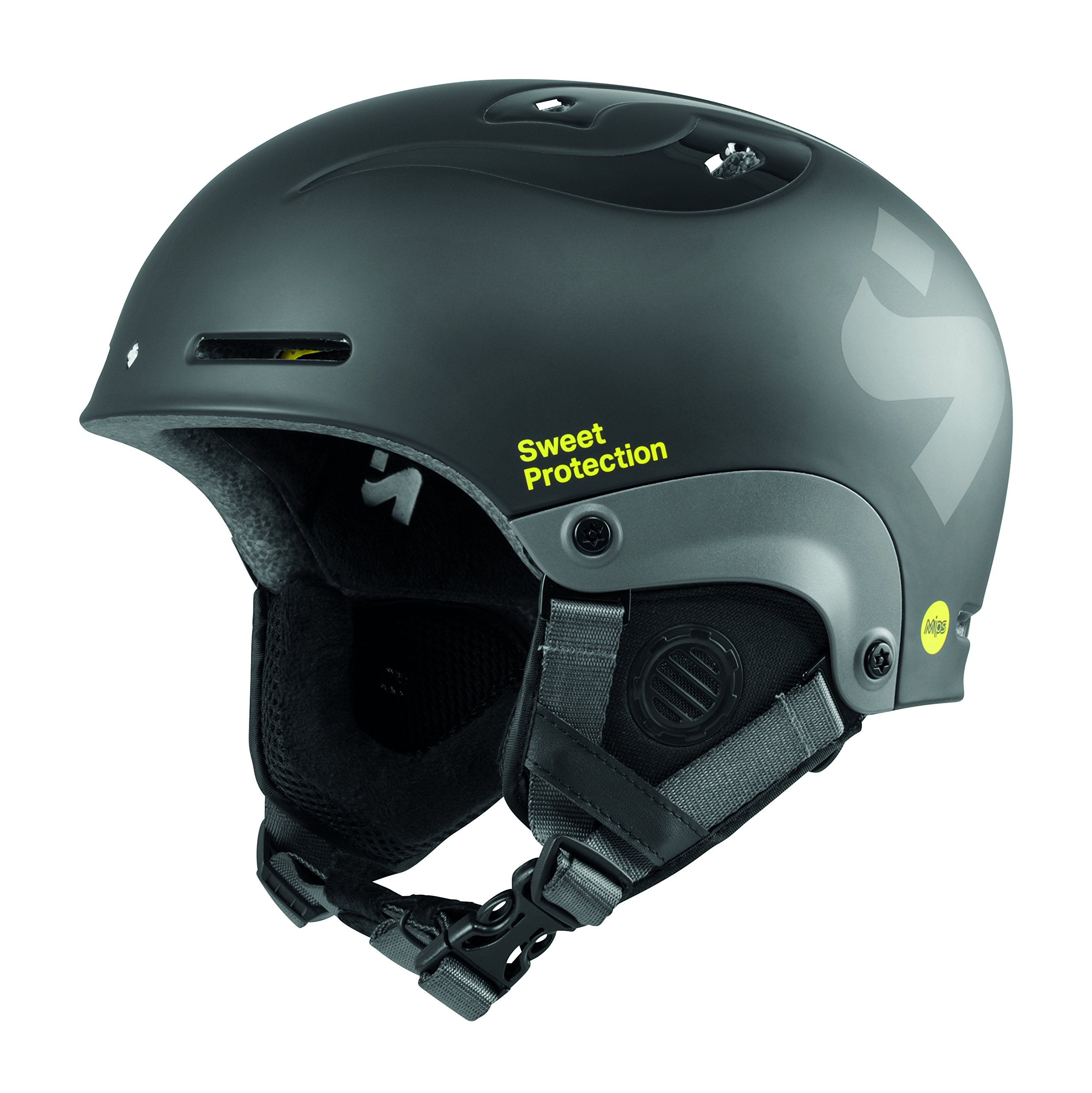 Sweet Protection Unisex Jugend Blaster II MIPS Helmet JR Ski/Snowboard, Dirt Bla