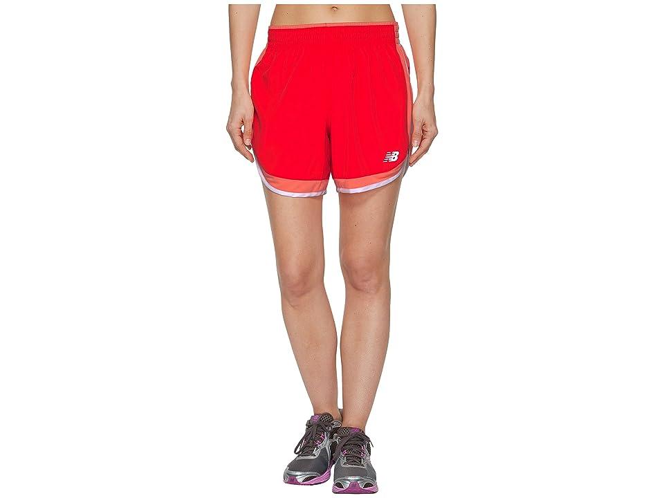 New Balance Accelerate 5 Shorts (Vivid Coral) Women