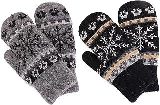 Arctic Paw Women's Snowflake Winter Knit Mittens - Set of 2 Paris