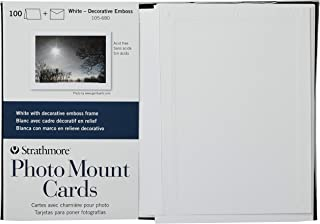 $40 » Strathmore 105-680 Photo Mount Cards, White Decorative Embossed Border, 100 Cards & Envelopes