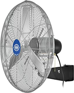Global Industrial Deluxe Oscillating Wall Mount Fan, 24