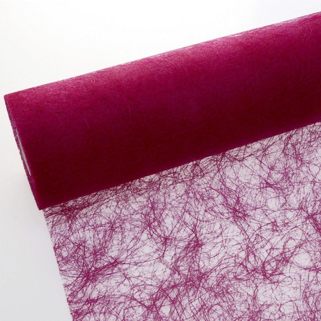 /Rouleau de 25/m/ètres Ruban de table/en sizoflor Polyester 100/C/œurs de d/écoration gratuits aubergine 20cm Breite